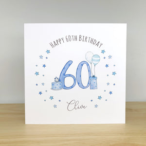 Personalised Birthday Card – 21st, 30th, 40th, 50th, 60th - Any Age
