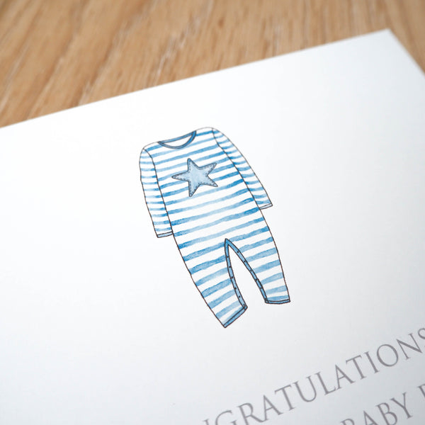 Personalised New Baby Boy Card
