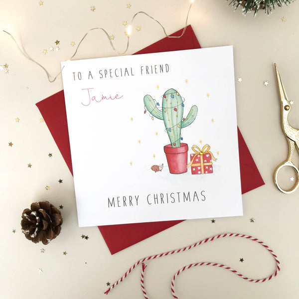 Personalised Christmas Card - Cactus