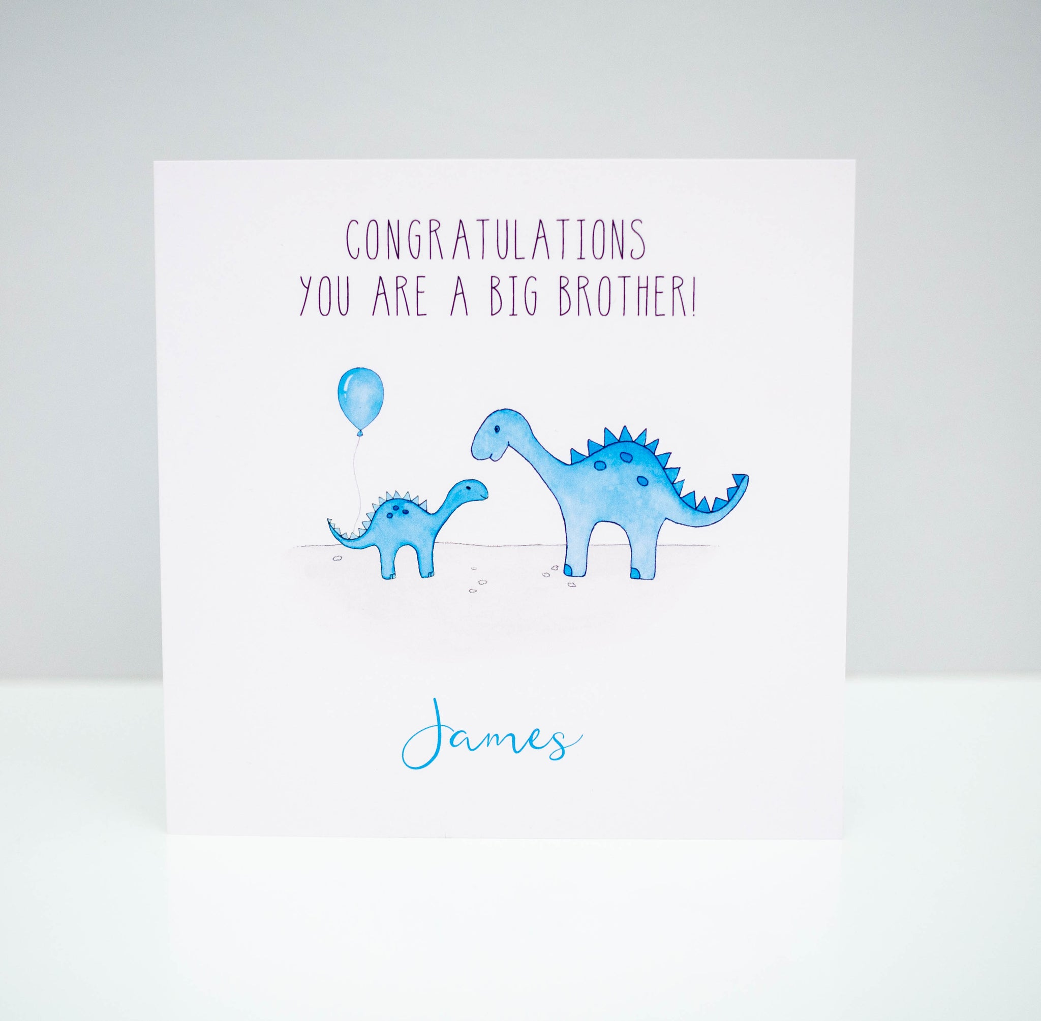 Personalised New Big Brother Card - Dinosaur