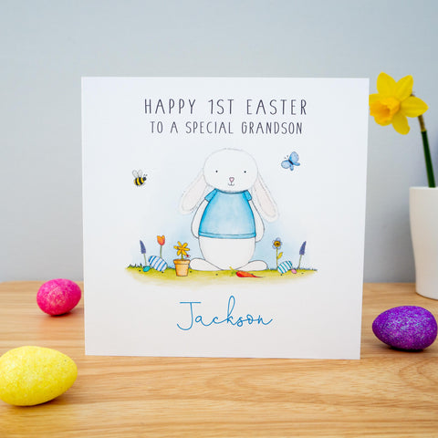 Personalised Boys 1st Easter Card - Son, Godson, Nephew, Grandson, First