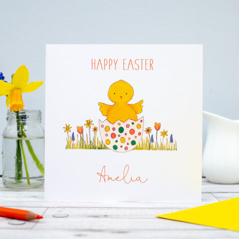 Personalised Easter Card - Chick