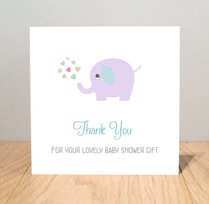 Personalised Baby Shower Thank You Cards