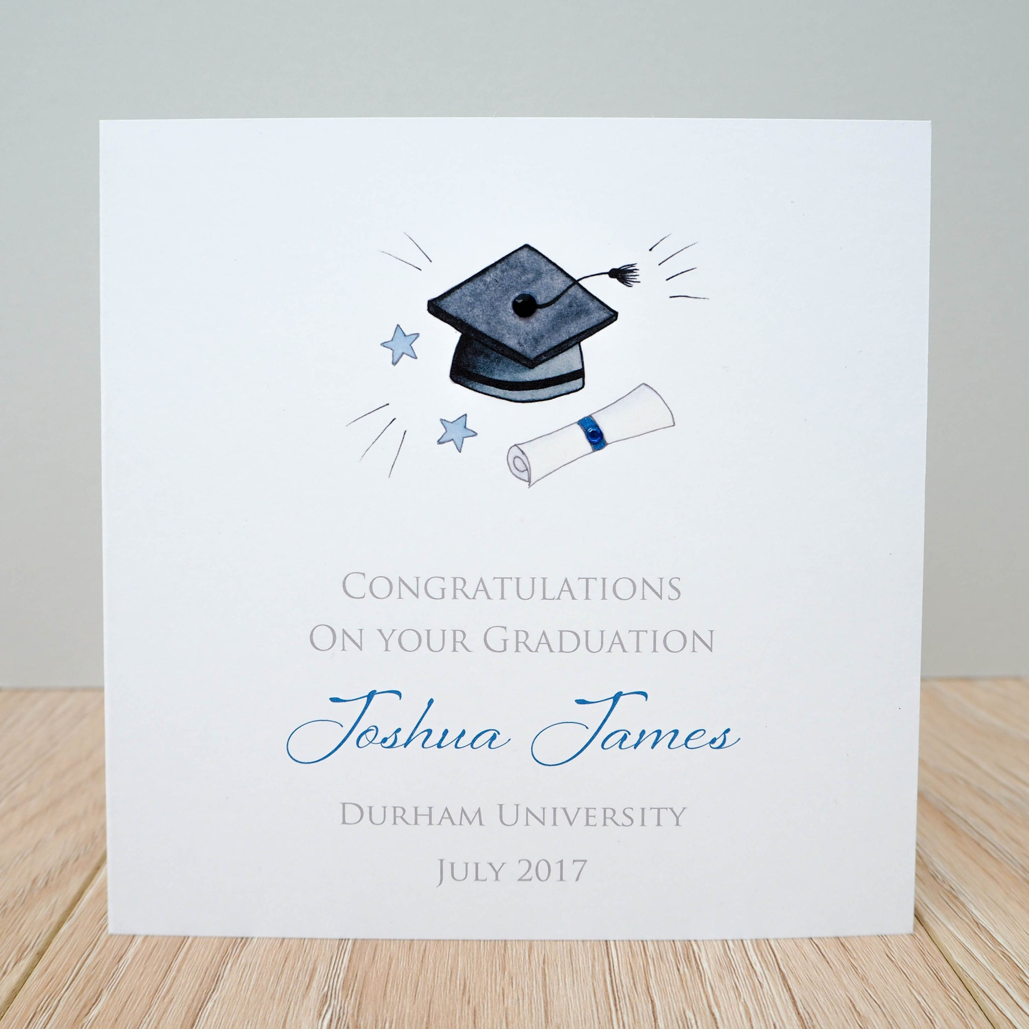 Handmade Personalised Graduation Card