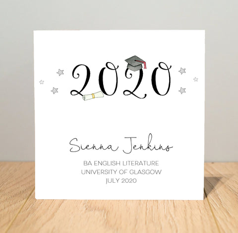 Personalised Graduation Card for 2020