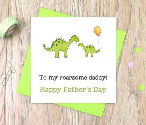 Personalised dinosaur Father's Day Card