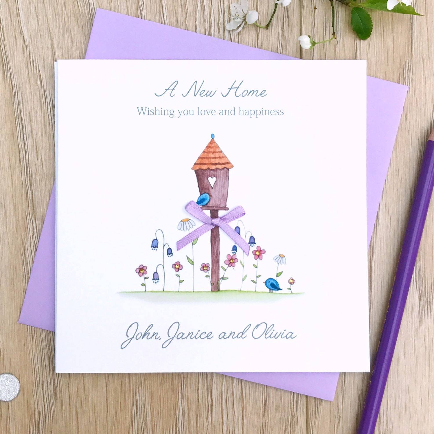 Handmade Personalised New Home Card