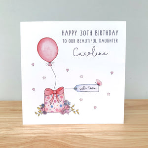Personalised Birthday Card - Daughter, Mum, Granddaughter, Sister, Friend