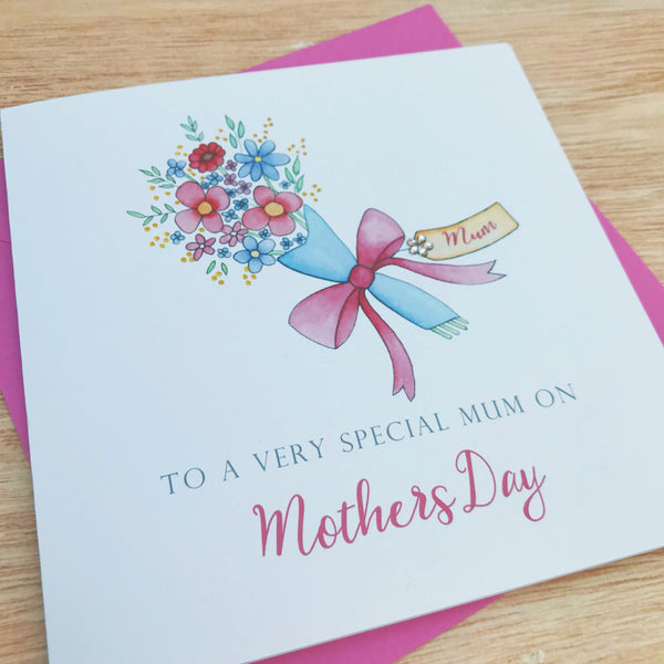 Personalised Mother's Day card - Mum, Mam, Nanny, Grandma, Granny, Nana