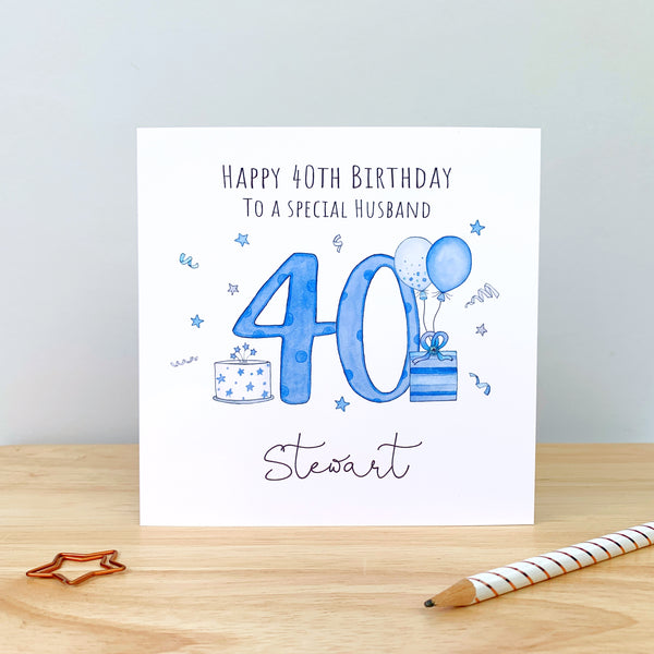 Personalised Birthday Card - 18th, 21st, 40th, 50th, 60th, 70th, 80th