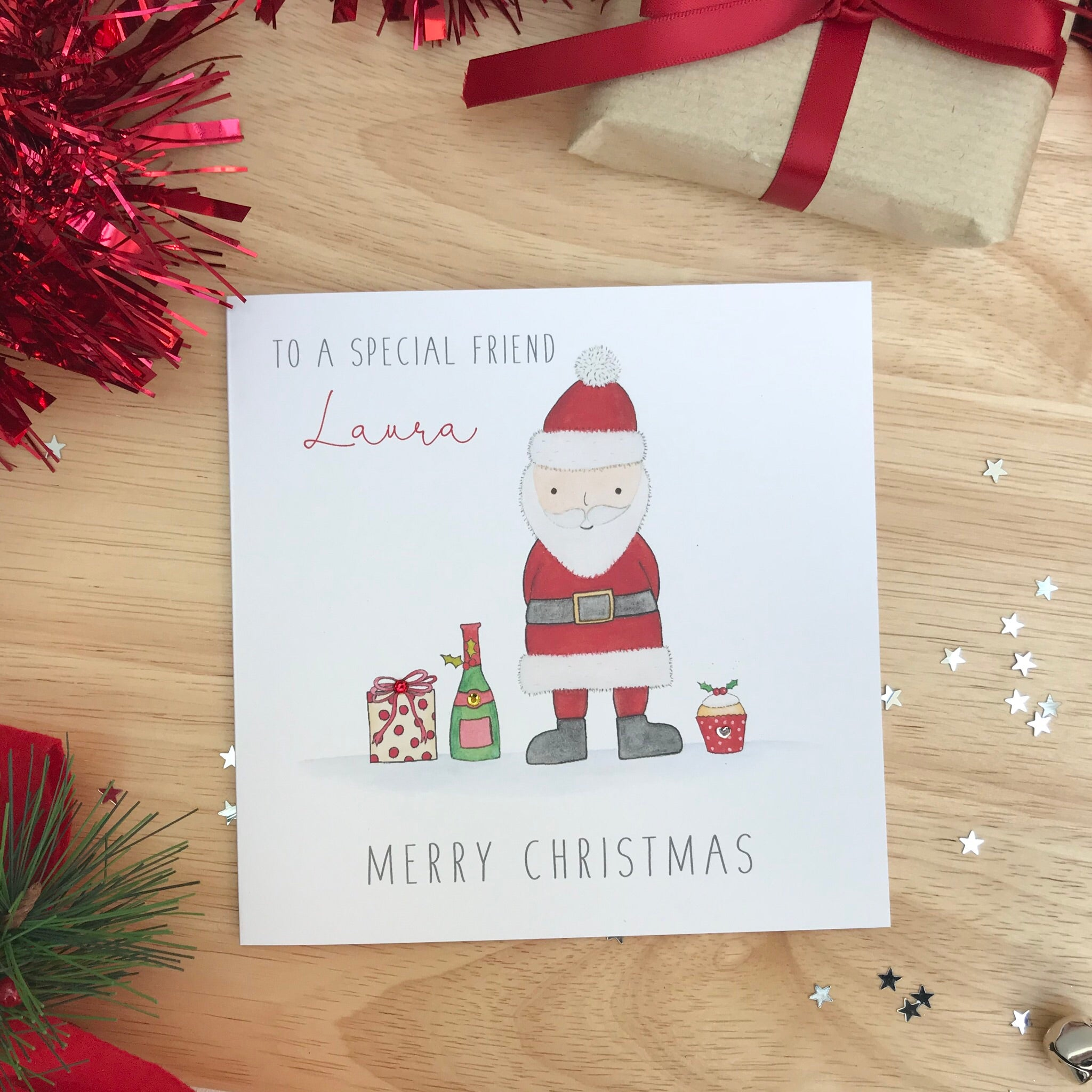 Personalised Christmas Card - Friend, wife, husband
