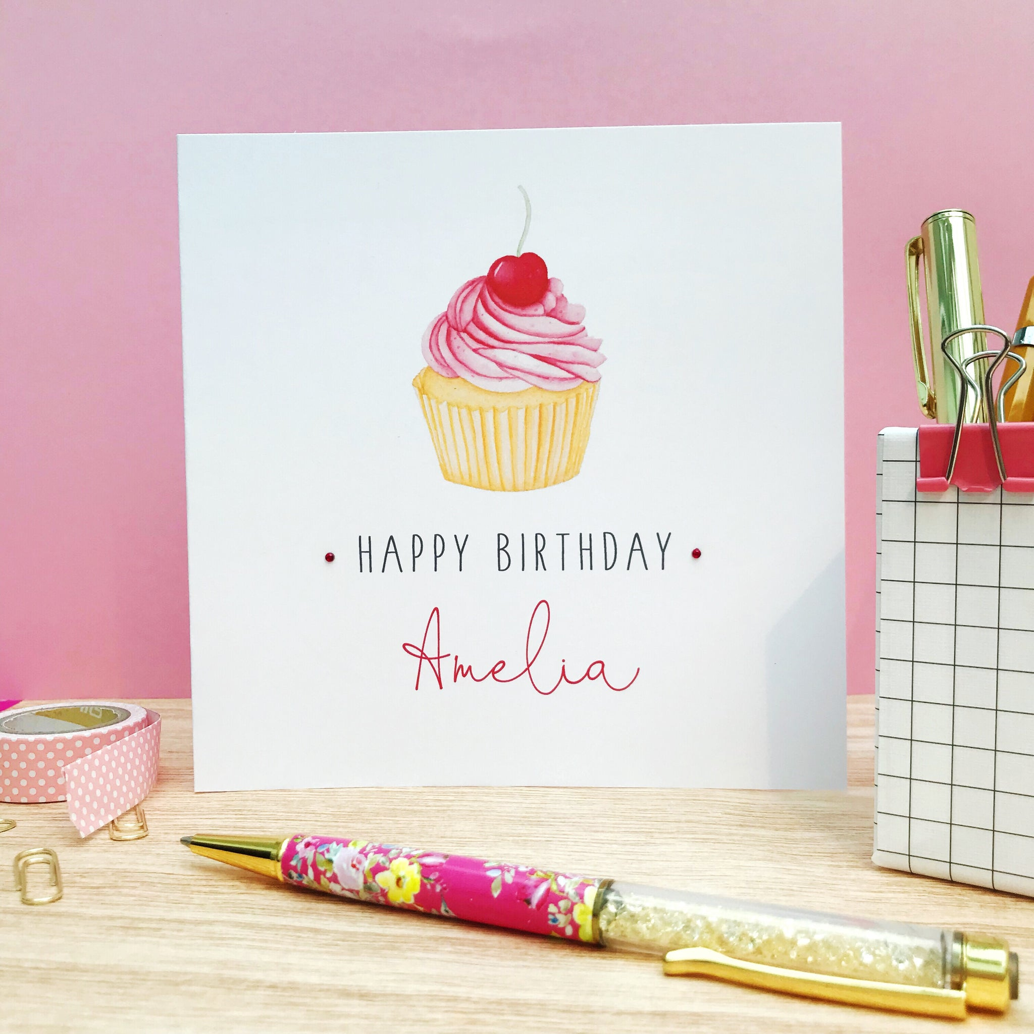 Personalised Cupcake Birthday Card