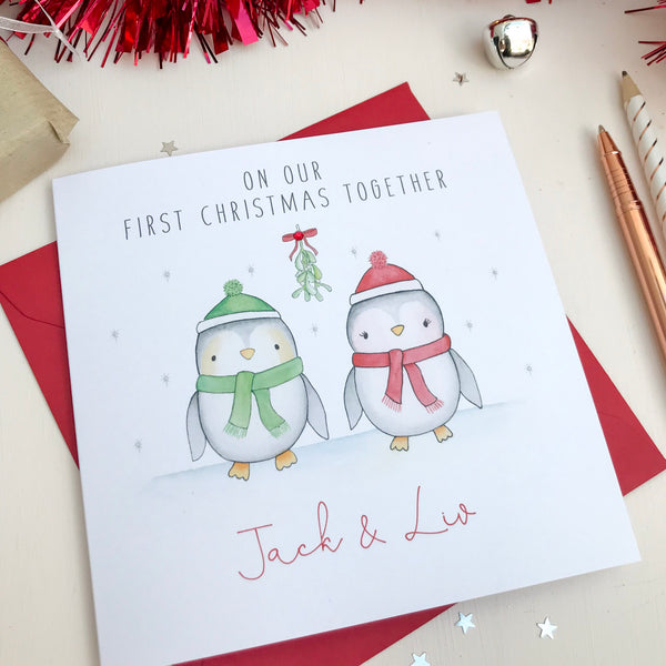 Personalised Christmas Card for a couple, Wife, Husband, Partner