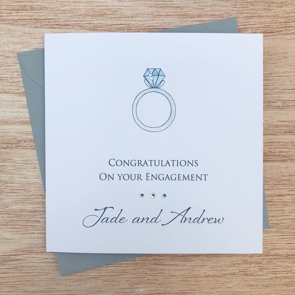 Handmade Personalised Engagement Card