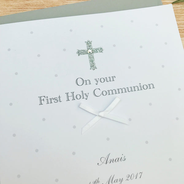 Personalised Handmade First Holy Communion Card