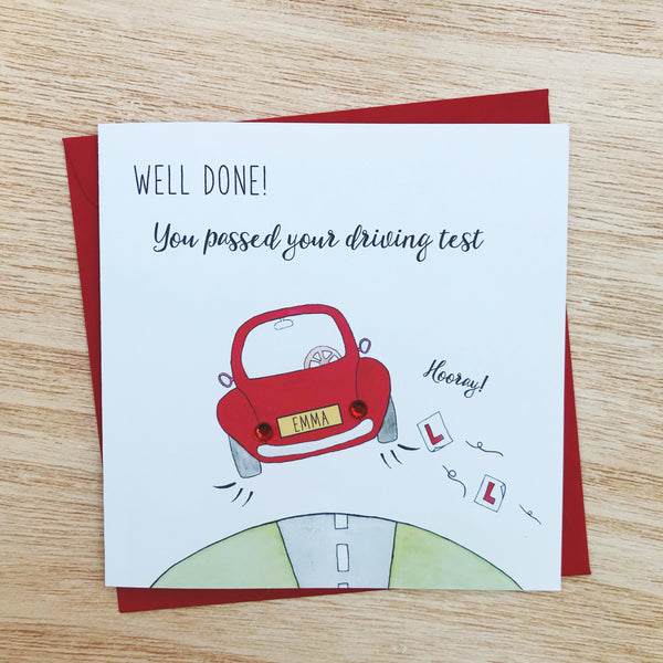 Personalised Well Done On Passing Your Driving Test Card