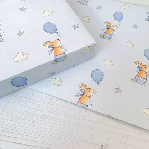 Baby Boy Wrapping paper - Bunny
