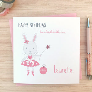 Personalised Girls Birthday Card - Ballet Birthday card