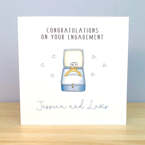 Personalised Engagement Card - Ring in box card