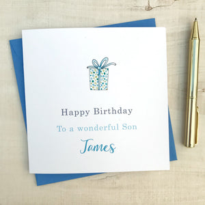 Personalised Birthday Card – Son, Dad, Uncle, Grandad, Friend