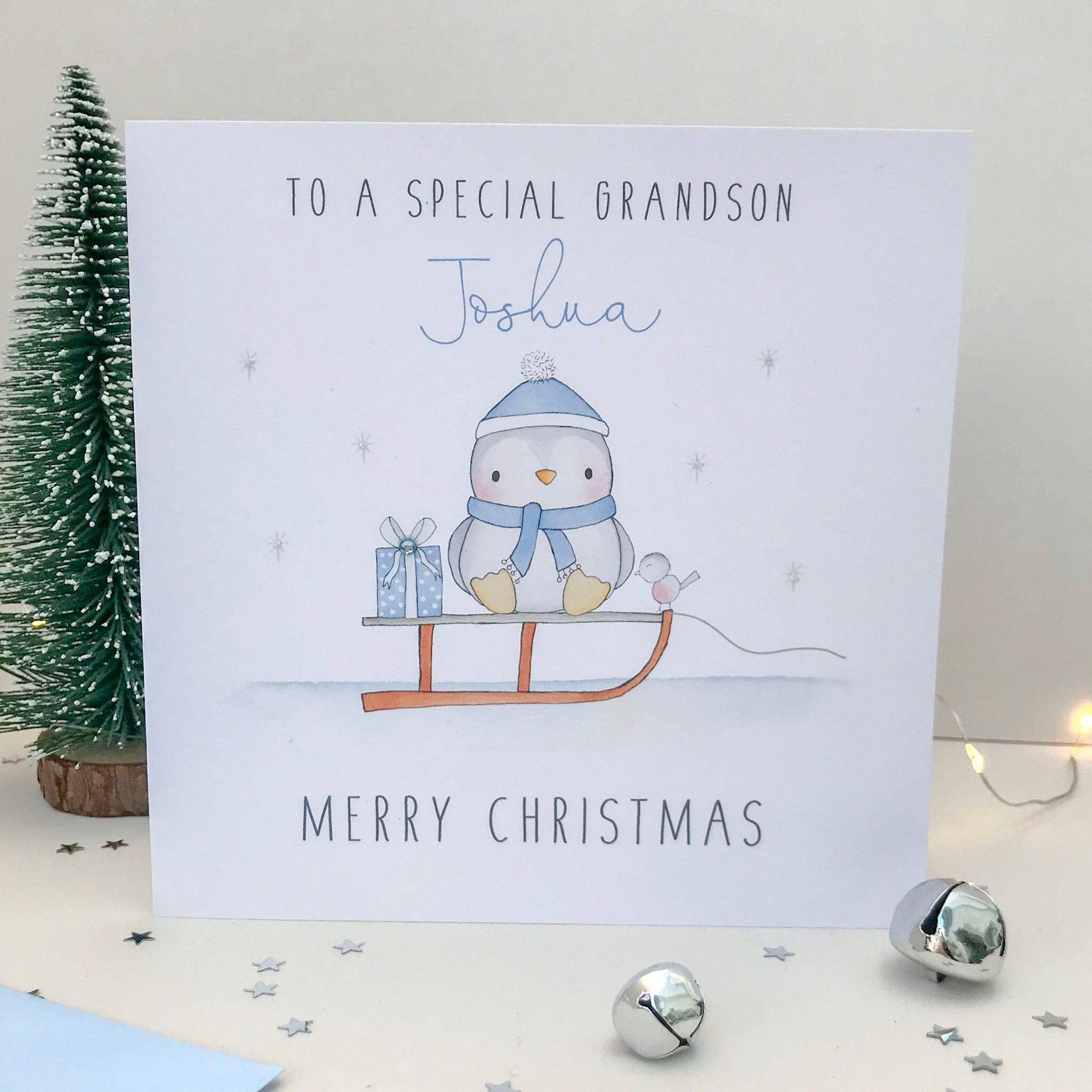 Personalised Boys Christmas Card
