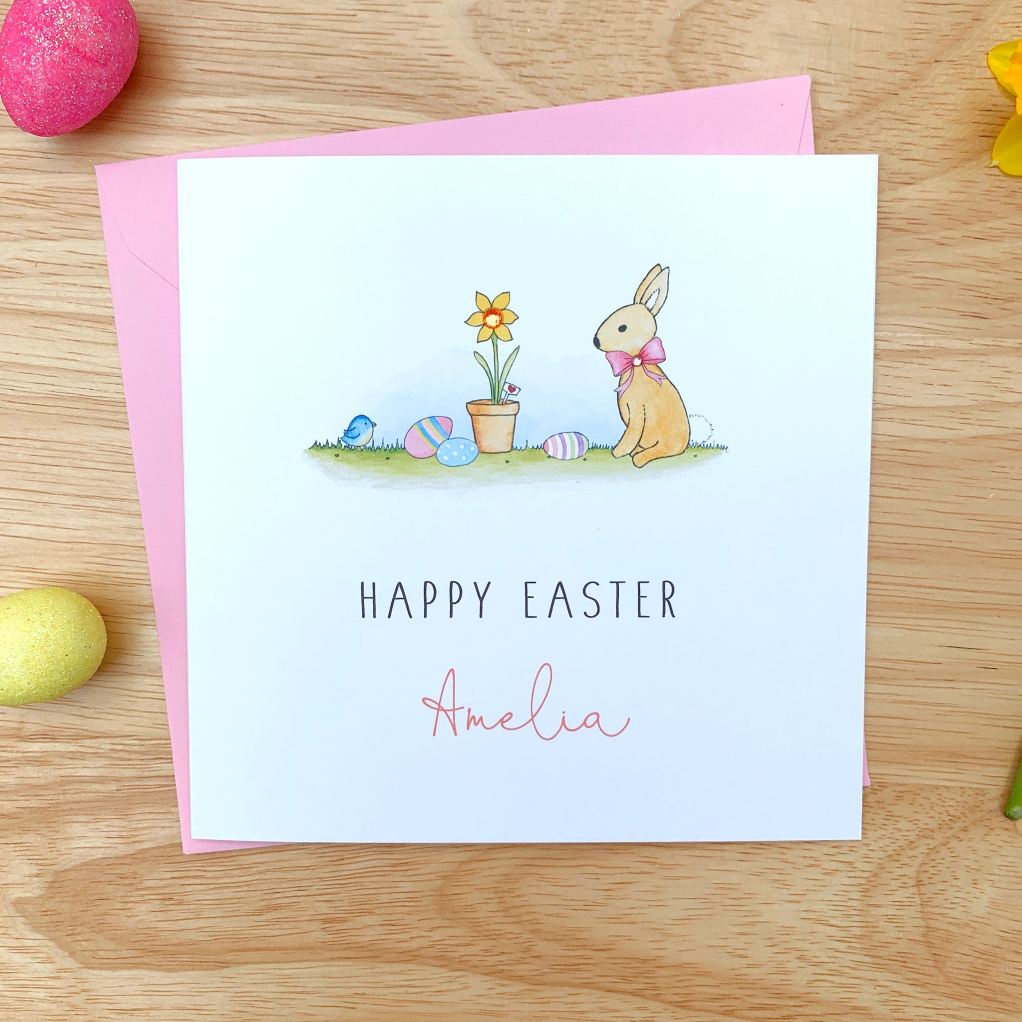Personalised Easter Card - Girls Easter Card