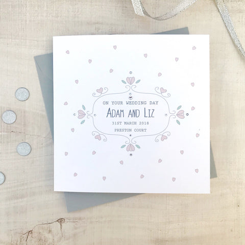 Handmade Personalised Wedding Card