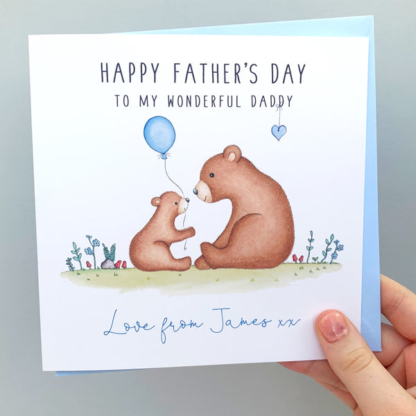 Personalised Father's Day Card - Bears