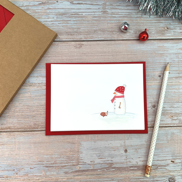 Christmas Notecards - Snowman