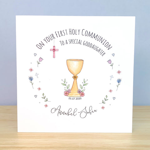 Personalised First Holy Communion Card