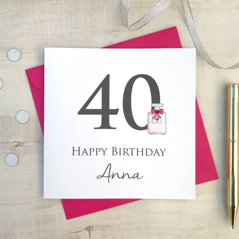 Personalised Birthday Card - any age 21st 30th 40th 50th 60th