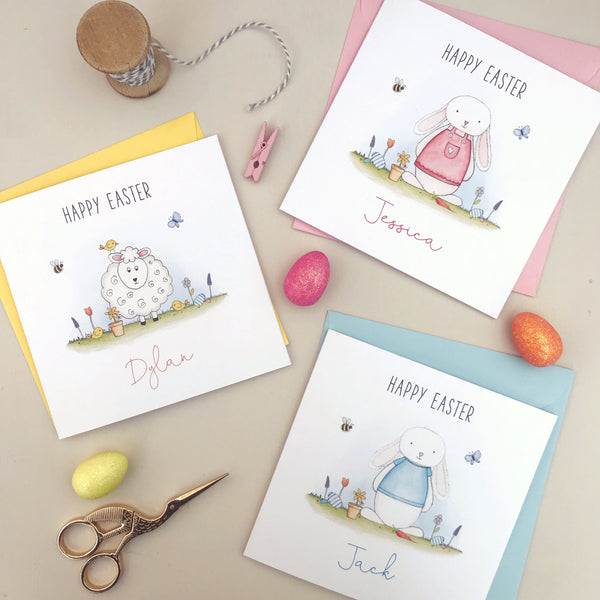 Personalised Easter Card - Lamb