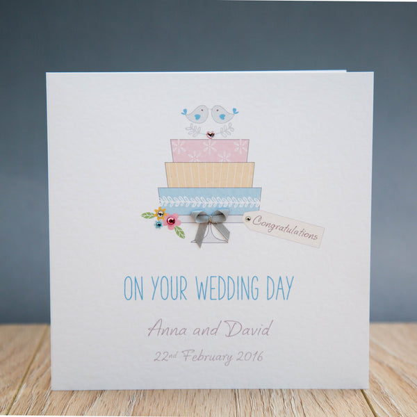 Handmade Personalised Wedding Day Card