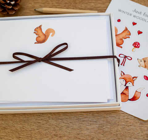 Squirrel Notecard Set