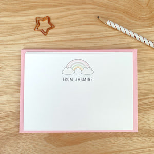 Rainbow Notecards - Pink