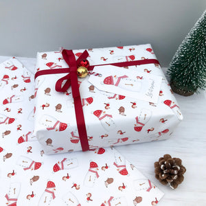 Christmas Snowman Wrapping Paper