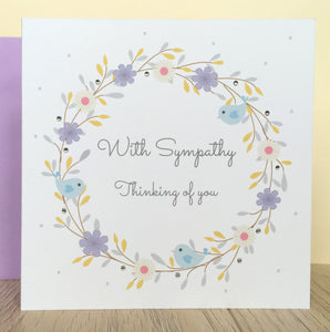 Handmade Personalised With Sympathy Card