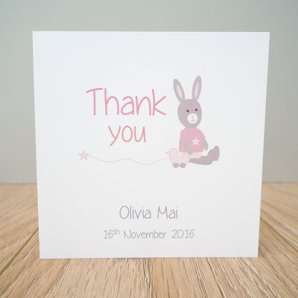 Personalised Baby Girl Thank You Cards