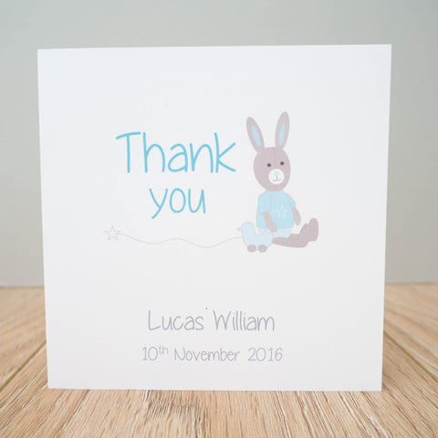 Personalised Baby Boy Thank You Cards