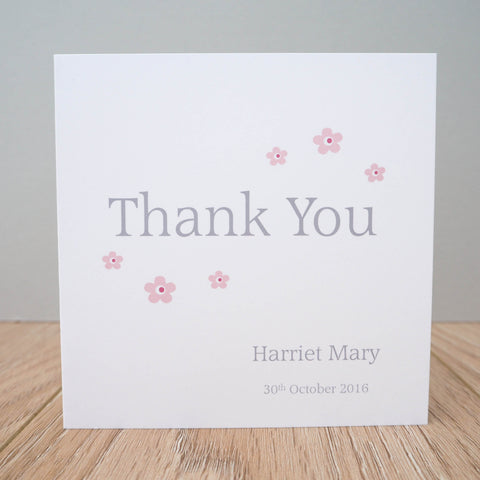Personalised Christening Thank You Cards - Packs of 10