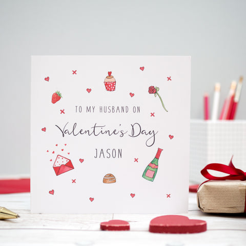 Personalised Valentine's Day Card, Husband, Wife, Girlfriend, Boyfriend, Partner