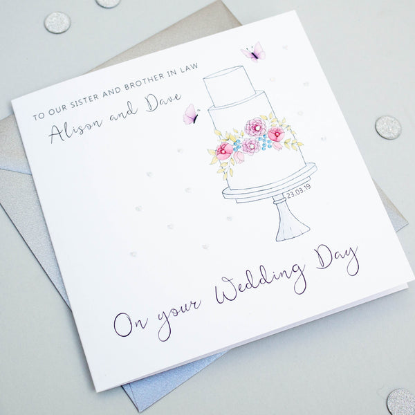 Handmade Personalised Wedding Card - Daughter, Son, Sister, Brother, Friends