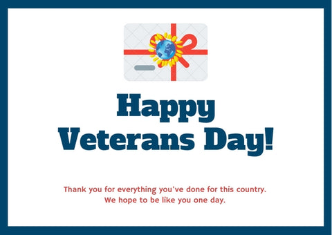 Veteran's Day Gift Card - Mondosol shop