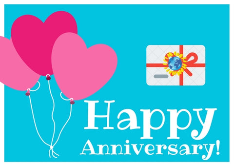 Anniversary's Day Gift Card - Mondosol shop