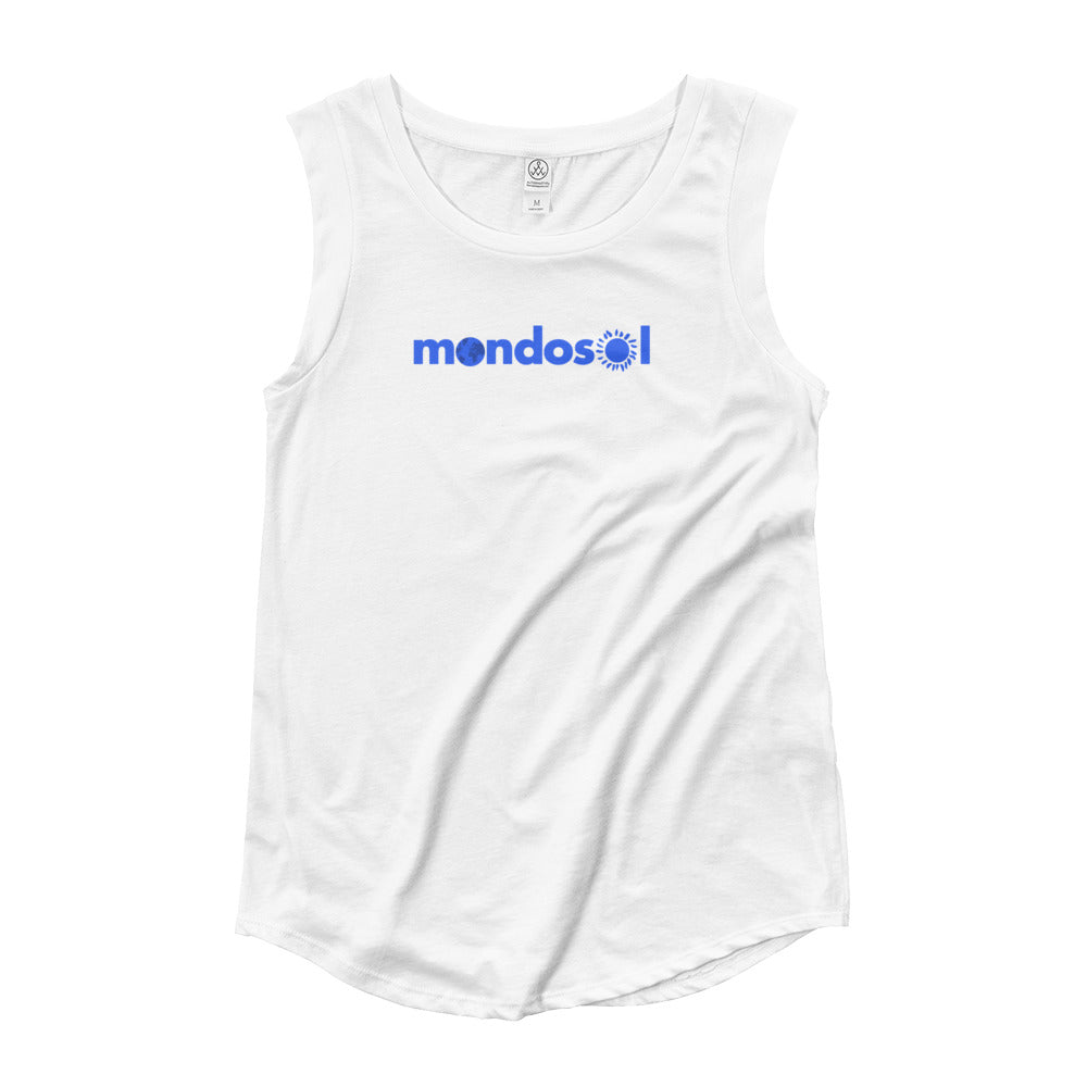 Mondosol logo Ladies' Cap Sleeve T-Shirt