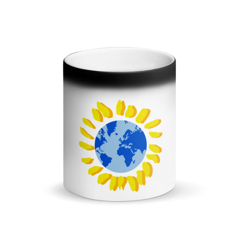 Mondosol symbol Matte Black Magic Mug