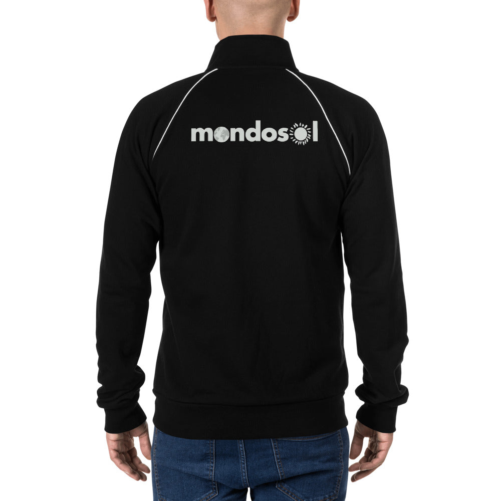 Mondosol symbol Piped Fleece Jacket