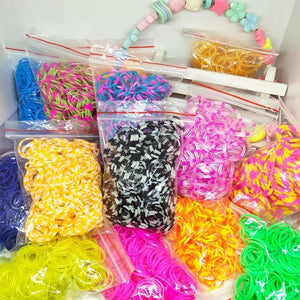 1800pcs Rubber Loom Bands DIY Toys For Children Set Kid Lacing Bracelet Silicone Rubber Bands Elastic Weave Girl Gifts wholesale