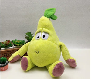 New Fruits Vegetables banana Pear  watermelon blueberry Starwberry and bufferfly been plush soft toy for children baby gift