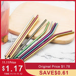 Colorful 304 Stainless Steel Straws Reusable